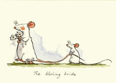 Anita Jeram: The Blushing Bride (mouse wedding)