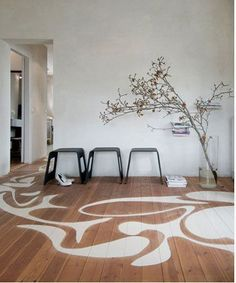 modernist stenciled floor patterns w. lustig inspiration painted floor Decking of your house one of the most remarkable interior architectural features. Selecting the floor cove. Slate Flooring, Flooring Options, Wooden Flooring, Flooring Ideas, Easy Flooring, Flooring Types, Ceramic Flooring, Terrazzo Flooring, Basement Flooring