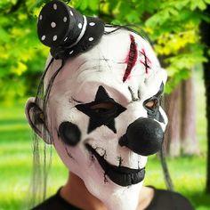 Unicorn Mask Hair Cosplay Face Horror Adult Halloween Party Horse Movie Beauty