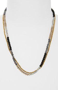 Panacea Beaded Multistrand Necklace