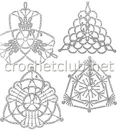 Irish Crochet Patterns, Crochet Lace Edging, Christmas Crochet Patterns, Crochet Cardigan Pattern, Crochet Diagram, Crochet Chart, Thread Crochet, Crochet Designs, Crochet Doilies