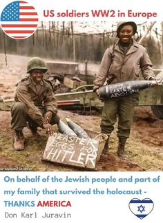On behalf of the #Jewish people and part of my family that survived the #holocaust - THANKS #AMERICA - Don Karl #Juravin