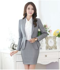 Professional autumn business suit for women plus size skirt suits OL slim work wear office ladies long sleeve blazer with skirts-inSkirt Suits from Women's Clothing & Accessories on Aliexpress.com | Alibaba Group