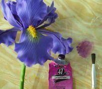 How to make Clay Flower Iris tutorial / Polymer Clay / Sugar Craft / Cake…