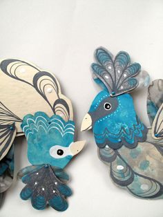 Silver Lining Bird Articulated Paper Doll / by benconservato
