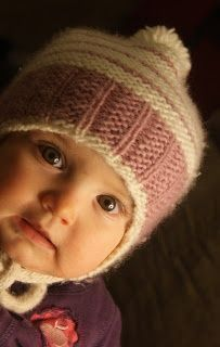 free pattern from northern purly girl: Garter Ribbing My Baby Hat