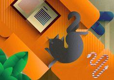 Cats & art prints Sofás en Behance