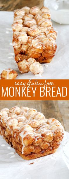 Super easy to make this gluten free monkey bread is perfect for. Super easy to make this gluten free monkey bread is perfect for the little hands of little helpers and will make your house smell like amazing cinnamon goodness! Gluten Free Sweets, Gluten Free Cooking, Dairy Free Recipes, Bread Recipes, Gluten Free Monkey Bread Recipe, Gluten Free Breads, Pudding Recipes, Gluten Free Dairy Free Desserts, Cake Recipes