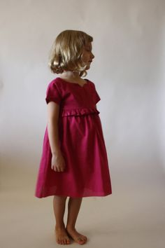 Ah, the Bohème dress. What better way to capture the playfulness of childhood. With sweet details that accent your childs unique spirit, this dress is sure to become a favorite. SKILL LEVEL: Intermediate SUITABLE FABRICS: Light- to mid-weight wovens, including linen blends, chambray, rayon challis, cotton lawn, quilters cotton, etc. See thumbnail above for yardage requirements. TECHNIQUES: Lining, gathering, sleeves, buttons   PATTERN INCLUDES:  - Pattern sizes 2/3, 4/5, 6/7, 8...