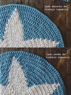 SusiMiu | Trucos y atajos para tejer con Trapillo. Segunda parte Free Crochet, Crochet Hats, Star Rug, Tapestry Crochet, Get Outside, Rug Making, Rugs On Carpet, Crochet Patterns, Colours