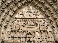Tímpano del Portal de Notre Dame - Juicio Final, Catedral de París.