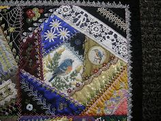 Allie Aller's Crazy Quilting. Oh my. Positively breathtaking work.