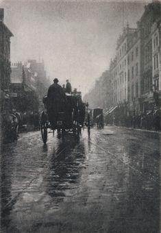 Oxford Street - A Wet Day, 1897 by George Davison