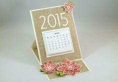 www.zeit-zum-basteln.de - Easel Card Calendar - Kalender für den Schreibtisch (Stampin Up)