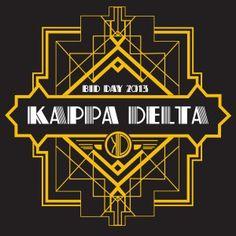 Awesome sorority bid day t-shirt designs from SororityBliss.com! Kappa Delta!
