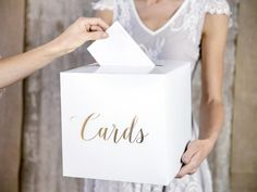 Rose Gold Wedding Reception Card Box/ White Wedding /Rose Gold Text / Wedding Cards / Guest Presents/ Envelope /Wedding Gift /Decorations Wedding Card Post Box, Wedding Reception Cards, Wedding Boxes, Wedding Cards, Wedding Ideas, Just Married Girlande, Ballons Pastel, Ballon Rose, Box Roses