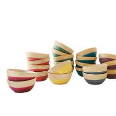 Rubber-dipped wood bowls from Wind Willow Home