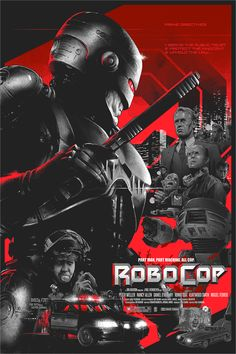 """Part Machine. All cop. 😎💪🔥 """"Robocop"""" AMP by Vance Kelly 🤘 Tag Fiction Movies, Sci Fi Movies, Good Movies, Science Fiction, Cult Movies, Man In Black, Rock Poster, Screen Print Poster, Alternative Movie Posters"""