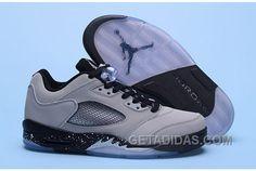 "8bc1b4650085 2017 Air Jordan 5 Low ""Wolf Grey"" Wolf Grey Black-Black Authentic 7rif3"