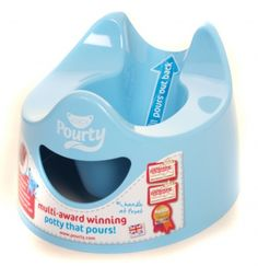 The brilliant new Pourty Potty is comfortable for boys and girls and much easier to empty and clean than a normal potty. Its features include The Pourty potty is perfect for potty training children from 12 months to 4 years' old. Toilet Training Seat, Potty Training Tips, Potty Seat, Potty Chair, Best Potty, Baby Toilet, Baby Daddy Shirt, Potty Trainer, Pots