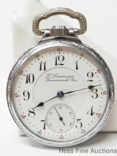 Rockford L Lindauer Savannah GA Georgia 16S 17J Antique Pocket Watch to Fix