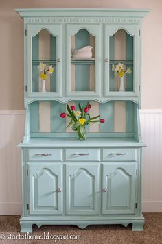 Paint vintage furniture in non-neutral colors for a breath of fresh spring air.
