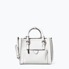 Image 1 of MINI CITY BAG WITH ZIP DETAILS from Zara