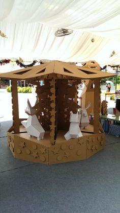 Cardboard merry go round