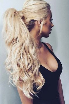 Ponytail with bangs can be everything you need to look innocent and sweet. Besides, you do not need to spend countless hours in front of the mirror.