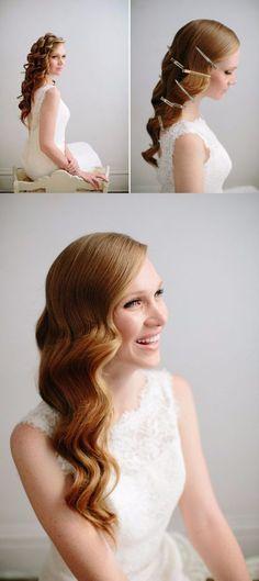 DIY: Luce un cabello de novia con bellísimas ondas / http://www.greylikesweddings.com/
