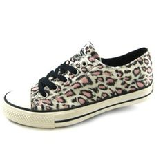 Amazon.com: Gotta Flurt Womens Ivory Pink Black Leopard Tennis Shoe 7.5-8.5