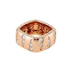 Mercer Diamond Wide Ring in 18k Rose Gold