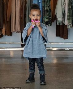 """Kim Kardashian Shares Happiest Photo of North West Eating a Lollipop in """"Daddy's Office"""" (See Photos) Kim And Kanye, Kim Kardashian And Kanye, Kardashian Jenner, Kardashian Family, Kanye West, Vanity Fair, North West Kardashian, North Carolina, Cute Baby Pictures"""