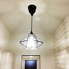 玄関/入り口/玄関/アンティークガラス/Dフロア メープル/Dフロア...などのインテリア実例 - 2017-01-25 01:11:30 | RoomClip(ルームクリップ) Ceiling Lights, Lighting, Pendant, Home Decor, Decoration Home, Room Decor, Hang Tags, Lights, Pendants