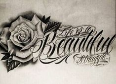 Chicano Lettering Source by Tatuajes Tattoos, Dope Tattoos, Girly Tattoos, Pretty Tattoos, Beautiful Tattoos, Flower Tattoos, Body Art Tattoos, Tatoos, Clock Tattoos