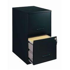 HIRSH Black Vertical 2-Drawer Filing Cabinet Metal for a diy ...