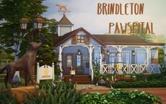 Brindleton Pawspital - The Sims 4 Catalog Sims 4 House Building, Sims House Plans, Sims 4 Stories, Sims 4 Pets, The Sims 4 Lots, Pet Vet, Vet Clinics, Sims 4 Build, Sims 4 Update