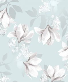 Vallila wallpaper: Magnolia tapetti aqua