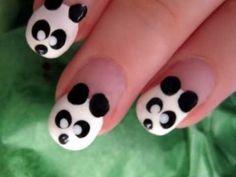 Cute & Easy Panda Nail Art video
