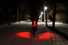 Tern Vizzy - illuminates the ground around your bike as well as provides a tail light. | via Bikehugger