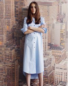 Rodebjer Aker Shirt Dress in Pale Blue | Covet + Lou