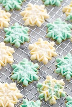 The recipe for my Grandmother's classic Spritz Cookies with a hint of vanilla and almond. The recipe for my Grandmother's classic Spritz Cookies with a hint of vanilla and almond. Spritz Cookies, Sprinkle Cookies, Holiday Cookies, Sugar Cookies, Almond Cookies, Vanilla Cookies, Shortbread Cookies, Holiday Cookie Recipes, Holiday Baking