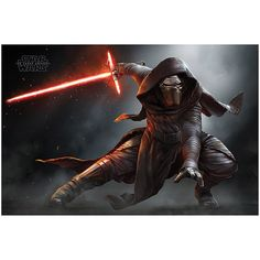 Star Wars Episode VII Kylo Ren Crouch Poster ($5.90) ❤ liked on Polyvore featuring home, home decor, wall art, star wars poster, star wars wall art and star wars home decor
