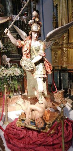St Michael the Archangel, associated with Ogun, Orisha of war, in Cuba. Jan Van Eyck, Kunst Online, Orisha, Archangel Michael, Blessed Mother, St Michael, Saints, Statue, Fine Art