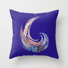 - River - Throw Pillow by Magdalla Del Fresto - $20.00