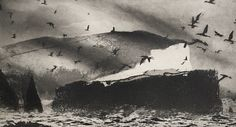 I found this at the Royal Academy Summer Exhibition 2018 Norman Ackroyd, Landscape Prints, Watercolor Landscape, Landscape Art, Race Book, Film Inspiration, Sea Birds, Printmaking, Art Drawings