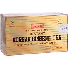 Superior Instant Korean Ginseng Tea - 30 Tea Bags