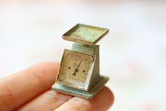 1/12 dollhouse miniature vintage kitchen scale, handmade by me.