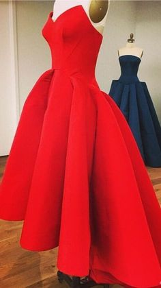 Custom Made Prom Dress Red Prom Dre