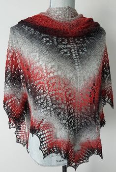 Burning Heart Shawl designed by Larisa Berestovitsky #Custom order#Hand knit Lace Shawl #Scarf #Wrap# Poncho #Wedding accessories #Women's gifts #Birthday gift #Gift for mom #Knitwear#Knitwear#Red Fashion#Grey Fashion#Winter knitwear#Inspiration